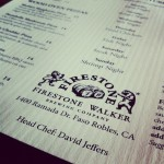 Menu at Firestone Walker