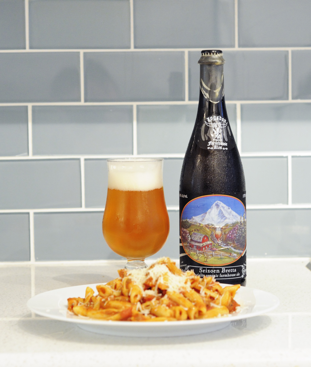 Penne Paired with Logsdon Farmhouse Seizoen Bretta The Pour Report