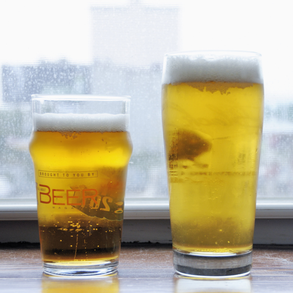 Pilsner Urquell on the left, homebrew on the right.