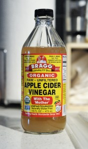 Bragg unpasturized, unfiltered vinegar acts as a starter culture.