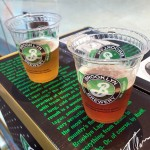 Free beer at the Brooklyn Brewery Beer Garden at JFK's JetBlue terminal.