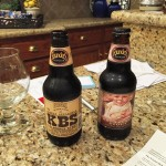Founders KBS next to Breakfast Stout.