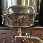 Sensor on mash tun which controls the burner for the recirculating mash.