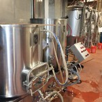 Three-vessel brewhouse fabricated by Portland Kettle Works.