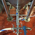 Rig used to transfer wort from the heat exchanger to the fermenter.