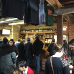 Carton's compact tasting room. A hopping joint on a cold Sunday afternoon.