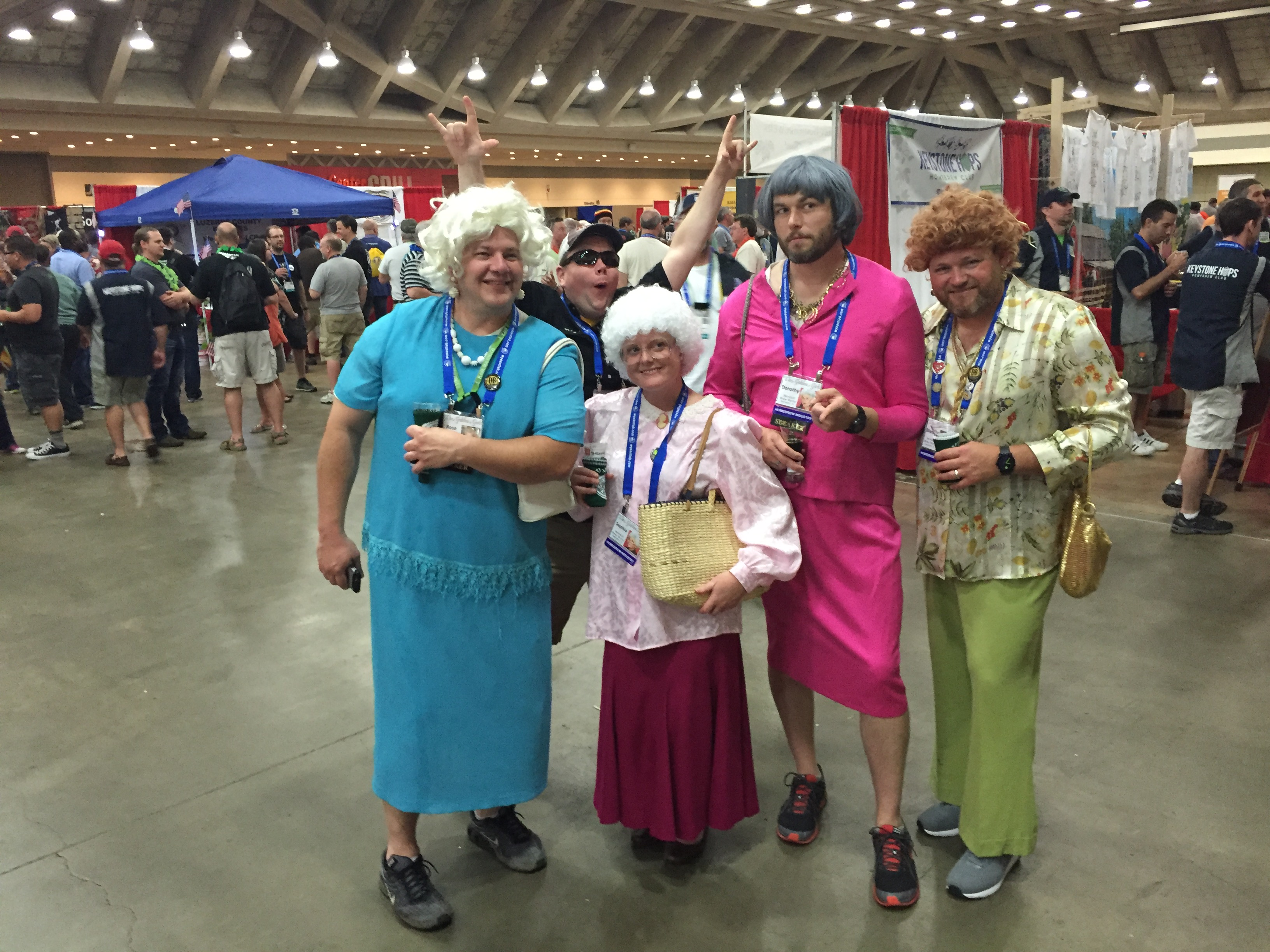 The Golden Girls making a rare appearance at Homebrew Con 2016 Club Night